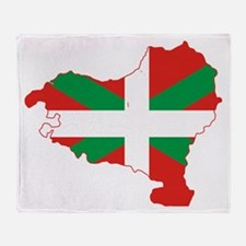 Basque Community Flag and Map Throw Blanket