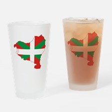 Basque Community Flag and Map Drinking Glass