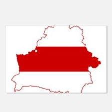 Belarus Flag and Map Postcards (Package of 8)