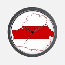 Belarus Flag and Map Wall Clock