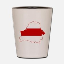 Belarus Flag and Map Shot Glass
