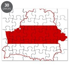 Belarus Flag and Map Puzzle