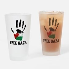 Funny Free palestine Drinking Glass