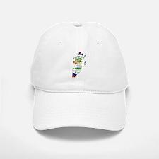 Belize Flag and Map Baseball Baseball Cap