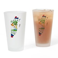 Belize Flag and Map Drinking Glass