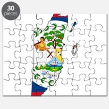 Belize Flag and Map Puzzle