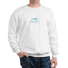 Due In March - blue Sweatshirt