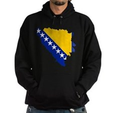 Bosnia and Herzegovina Flag and Map Hoodie