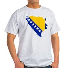 Bosnia and Herzegovina Flag and Map T-Shirt