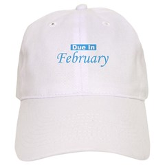 Due In February - Blue Baseball Cap