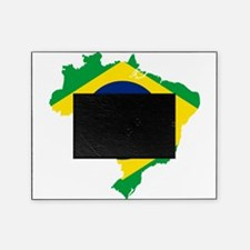 Brazil Flag and Map Picture Frame
