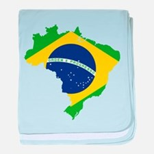 Brazil Flag and Map baby blanket