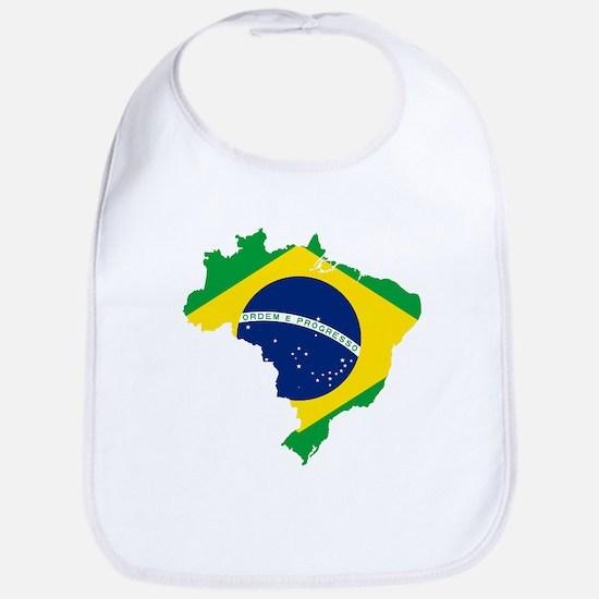 Brazil Flag and Map Bib