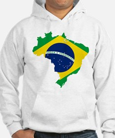 Brazil Flag and Map Hoodie
