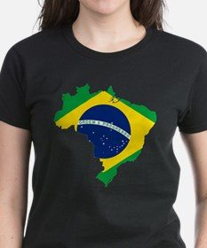 Brazil Flag and Map Tee