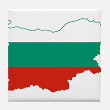 Bulgaria Flag and Map Tile Coaster