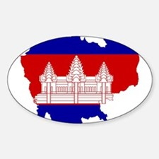 Cambodia Flag and Map Decal