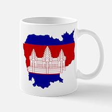Cambodia Flag and Map Mug