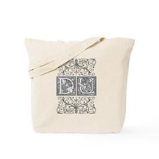 DU, initials, Tote Bag
