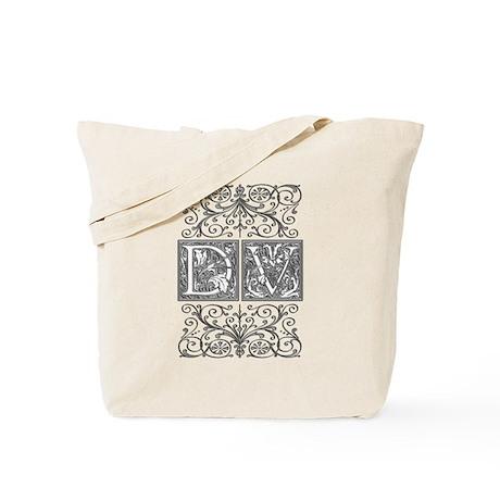 DV, initials, Tote Bag