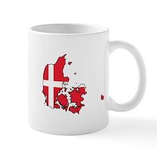 Flag Map of Denmark Mug