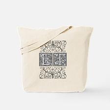 ET, initials, Tote Bag