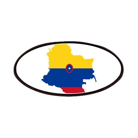 Colombia Civil Ensign Flag and Map Patches