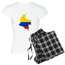 Colombia Civil Ensign Flag and Map Pajamas