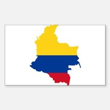 Colombia Civil Ensign Flag and Map Decal