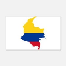 Colombia Civil Ensign Flag and Map Car Magnet 20 x