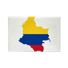 Colombia Civil Ensign Flag and Map Rectangle Magne