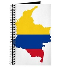 Colombia Civil Ensign Flag and Map Journal