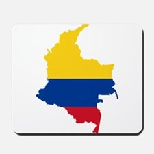 Colombia Civil Ensign Flag and Map Mousepad