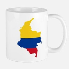 Colombia Civil Ensign Flag and Map Mug