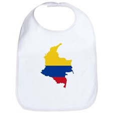 Colombia Civil Ensign Flag and Map Bib