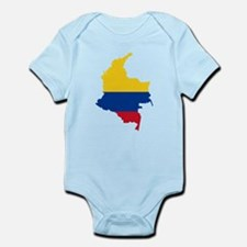 Colombia Civil Ensign Flag and Map Infant Bodysuit