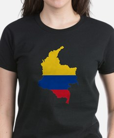 Colombia Civil Ensign Flag and Map Tee
