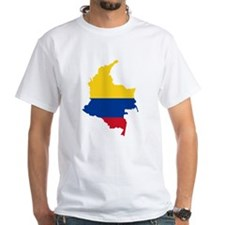 Colombia Civil Ensign Flag and Map Shirt