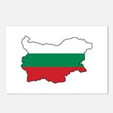 Flag Map of Bulgaria Postcards (Package of 8)