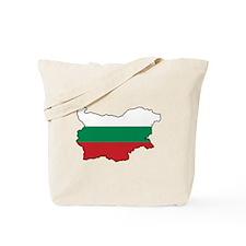 Flag Map of Bulgaria Tote Bag