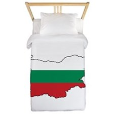 Flag Map of Bulgaria Twin Duvet