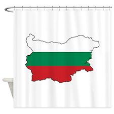 Flag Map of Bulgaria Shower Curtain