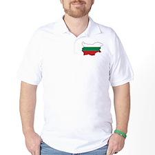 Flag Map of Bulgaria T-Shirt