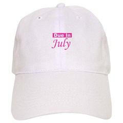 Due In July - Pink Baseball Cap