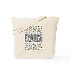 GF, initials, Tote Bag