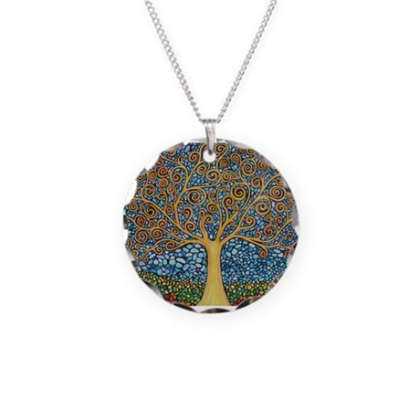 My Tree of Life Necklace Circle Charm