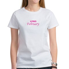 Due In February - Pink Women's T-Shirt