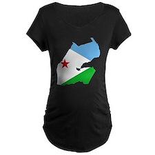 Djibouti Flag and Map T-Shirt