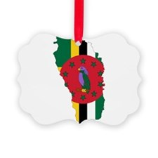 Dominica Flag and Map Ornament