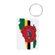 Dominica Flag and Map Keychains